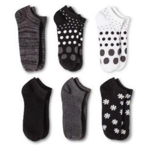 Daisy 6pk Low Cut Socks Xhilaration Sz 4-10